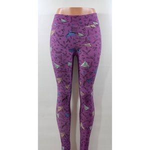 💕 LULAROE purple bird leggings geometric print